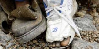 Broken soles and broken shoes